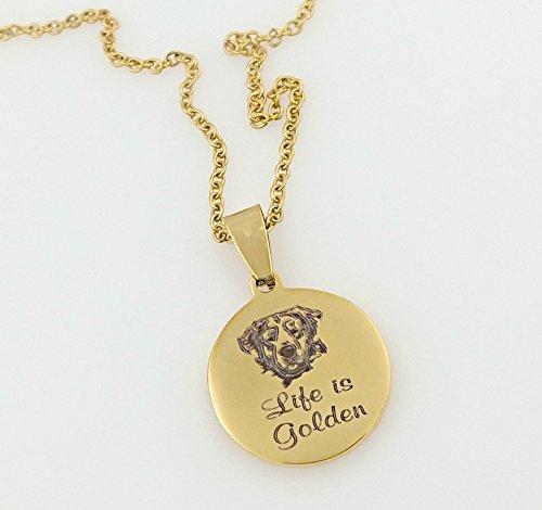 - Life is Golden, Golden Retriever Necklace