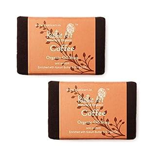 Rustic Art Organic Soap | Pack of 2 * 100 Gm (Coffee)