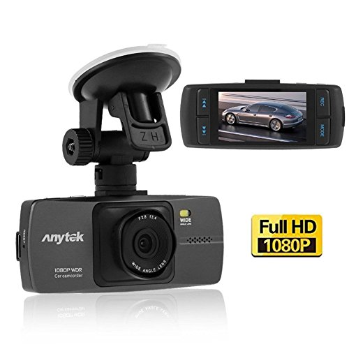 Anytek Car Dash Cam, Full HD 1080p 148 Wide Angle Lens Car Dashboard Camera Recorder DVR with G-Sensor, WDR, Loop Recording, Night Vision