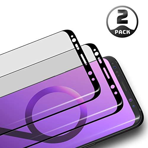 Aribest Galaxy S9 Panzerglas Schutzfolie,2 Stück Panzerglasfolie für Samsung Galaxy S9 3D Full Coverage Panzerglas Ultra-Klar 9H Härte,Anti-Öl,Anti-Bläschen,Anti-Kratzen,3D Touch Kompatibel Schwarz