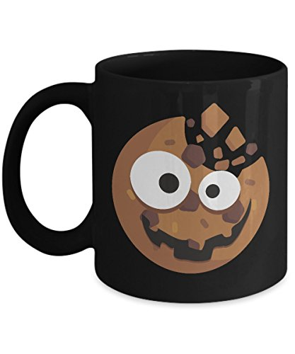 Shirt White Cute Cookie and Scary Monster Halloween Coffee Mug 11oz Black ()