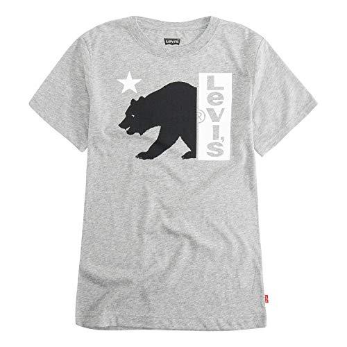 Levi's Boys' Toddler Graphic T-Shirt, Grey Heather Bear Logo, 4T