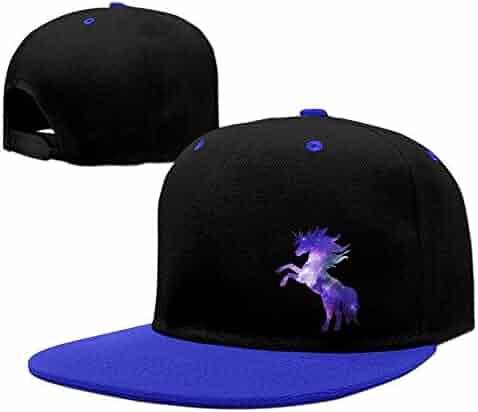 6adb4858d31ac2 Galaxy Unicorn Adjustable Mesh Cap Trucker Baseball Hats Snapback Cap