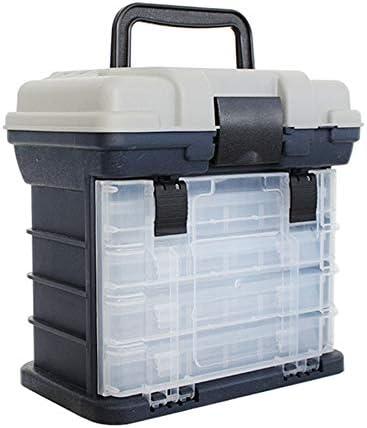 Nrpfell Caja de Aparejos de Pesca de 5 Capas PP + ABS Caja de Pesca de Manejar de PláStico de Calidad Herramientas de Pesca de Carpa Accesorios de Pesca: Amazon.es: Deportes y