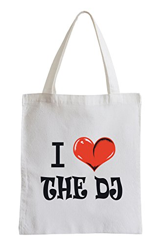 Amo il Dj Fun sacchetto di iuta Envío Libre Barato Calidad Superior Barato IaycS0Jar