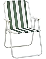 Chair For Camping and Trips, Foldable, White - Green