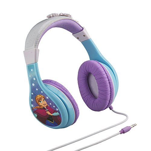 41XEvbZFVlL - Frozen Headphones for Kids with Built in Volume Limiting Feature for Kid Friendly Safe Listening