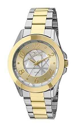 Relógio Feminino Condor Analógico Co2036Cu K5C Ouro Prata  Amazon ... 0380834e26