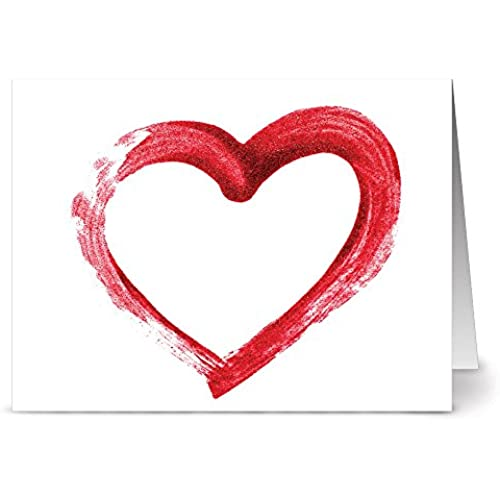 24 Note Cards - Simply Love - Blank Cards - Red Envelopes Included Sales