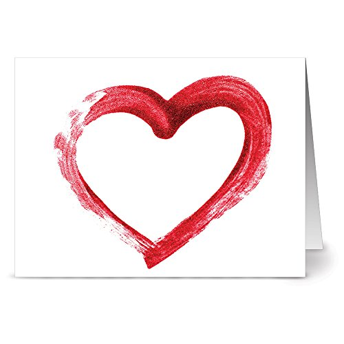24 Note Cards - Simply Love - Blank Cards - Red Envelopes Included
