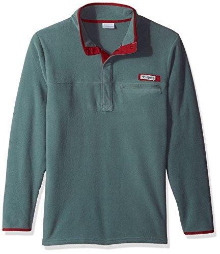 Columbia Sportswear Men's Harborside Fleece Pullover, Pond/Beet, (Bonded Fleece Pullover)