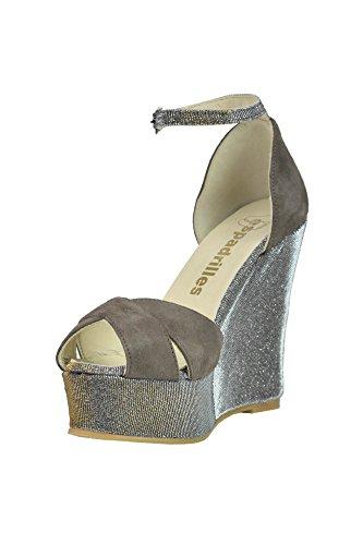 Espadrilles Zapatos de Vestir Para Mujer Marrón Marrón It - Marke Größe