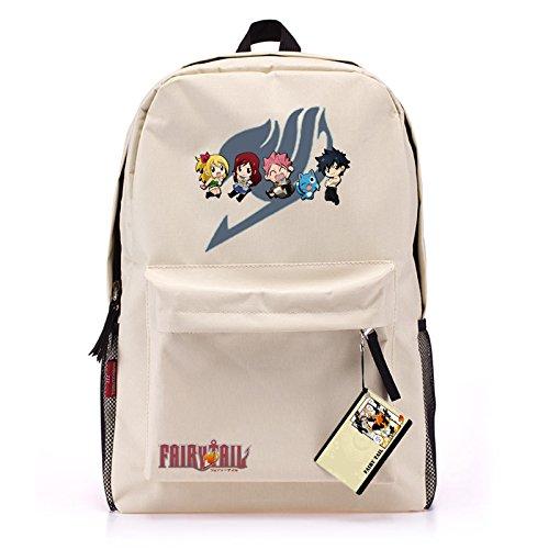 MeMoreCool Japanese Anime Fairy Tail Casual/Travel Backpack Cream-colored Full Size Rucksack/School Bag Unisex School Bookbag