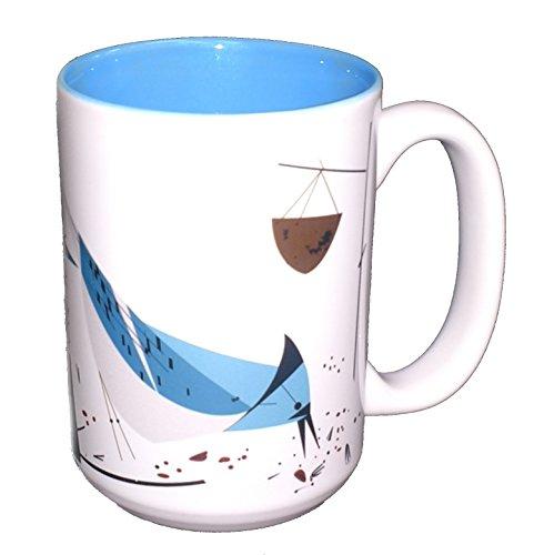 Charley Harper Blue Jay Grande Mug - Blue Charley