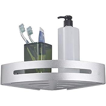BESy Shower Corner Caddy Bathroom Shower Corner Shelf, Self Adhesive ...