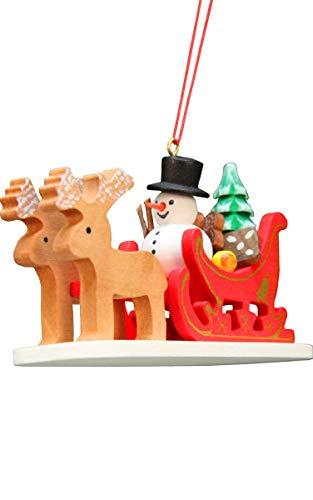 (Alexander Taron 10-0635 Christian Ulbricht Ornament - Snowman Sled - 4