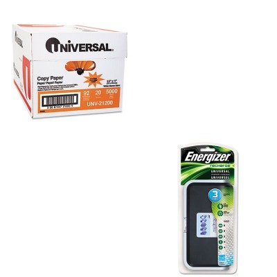 KITEVECHFCUNV21200 - Value Kit - Energizer Family Battery Charger (EVECHFC) and Universal Copy Paper (UNV21200)