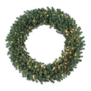 Vickerman Douglas Wreath with Dura-Lit 150 Clear Light and 480 Tips, 48-Inch (150 Clear Lights Tips)