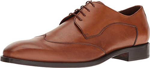 Massimo Matteo Men's Plain Wing Burnished Cognac Oxford