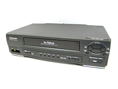 Emerson EWV-401A VCR black Video Cassette - Emerson Vcr Player