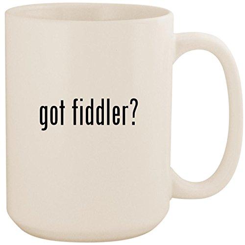got fiddler? - White 15oz Ceramic Coffee Mug Cup
