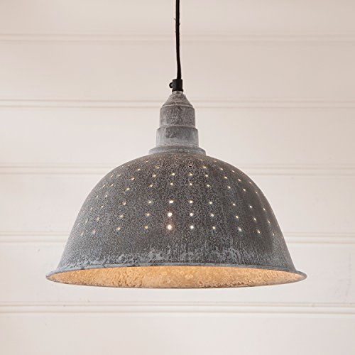 Weathered Zinc Pendant Light