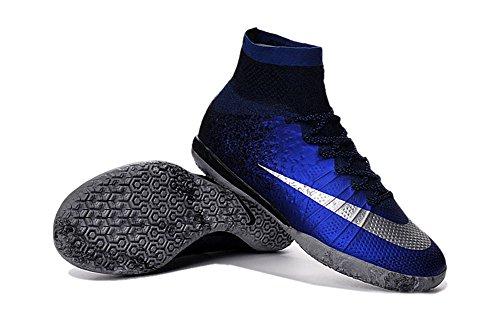 Demonry Shoes Mercurial superfly CR7IC Soccer-Boots für Herren, knöchelhohe Fußballschuhe in Königsblau