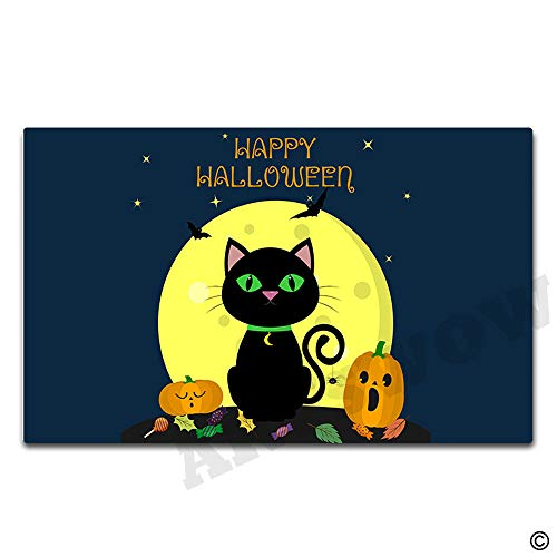 Artswow Happy Halloween Collage Doormat Funny Doormat Entrance