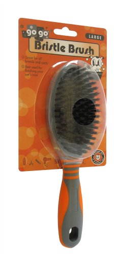 GoGo Pet Products Deluxe Bristle Pet Grooming Brush, Large -