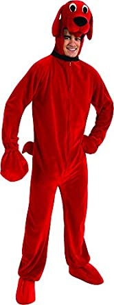 rubies costume co mens clifford the big red dog adult deluxe costume - Clifford The Big Red Dog Halloween Costume