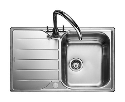 Rangemaster Michigan Countersunk-Sink Sink, Rectangular, Stainless Steel, Stainless Steel, 1Breast, Rectangular