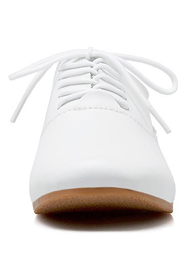 PDX/ Damenschuhe - Oxfords - Lässig - Kunstleder - Flacher Absatz - Mary Jane - Weiß white-us6 / eu36 / uk4 / cn36
