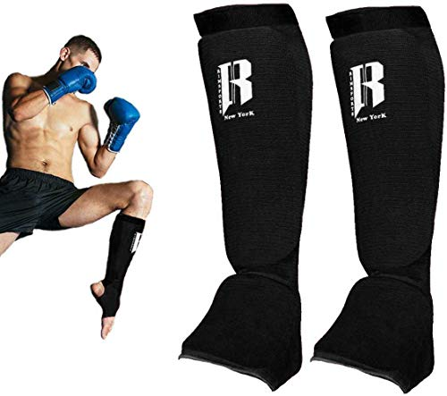 RIMSports Muay Thai Shin Guards Kickboxing – Premium MMA Shin Guards and Shin Pads – Ideal Shin Guard for Shin…