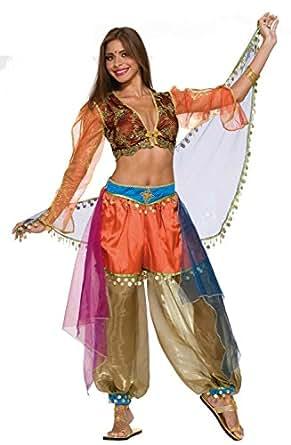 Forum Novelties Women's Designer Collection Deluxe Flirty Harem Dancer Costume, Multi, Small