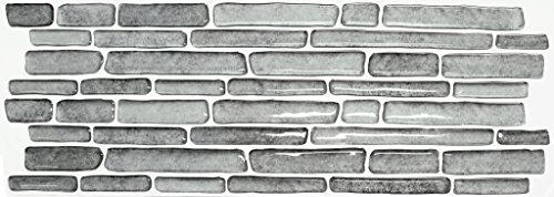 Beaustile Rough Stone Mosaic 3D Wall Sticker Pack of 2 Home Decor Fire Retardant Backsplash Wallpaper Bathroom Kitchen DIY Plain Design