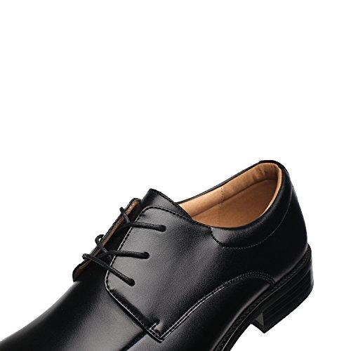 Nxt Mens New York Geniune Scarpe Di Cuoio Di Oxford Per Gli Uomini Zapatos De Hombre Mocassino Classico Comodo Moderno Business Scarpe Formale Pace-3-neri Scarpe Da Sera