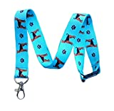 Airedale Terrier Dog Breed Print Break Away Lanyard Key Chain Id Badge Holder