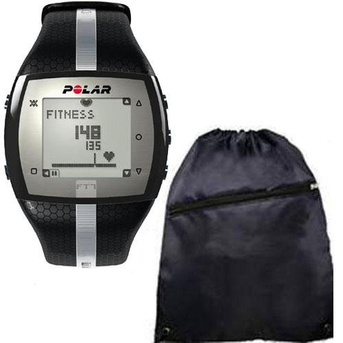 Polar FT7- Heart Rate Monitor - Black Silver With Bag
