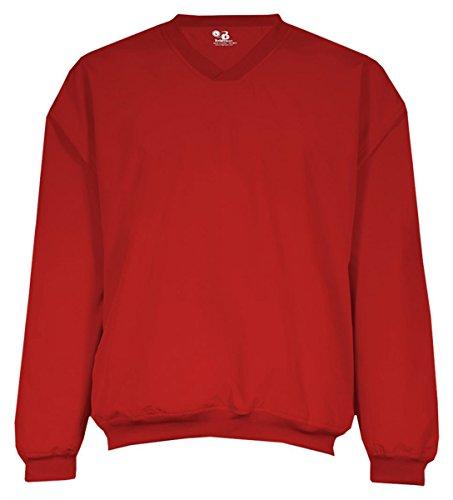 (Badger Sport Microfiber Windshirt - 7618 - Red - Large)