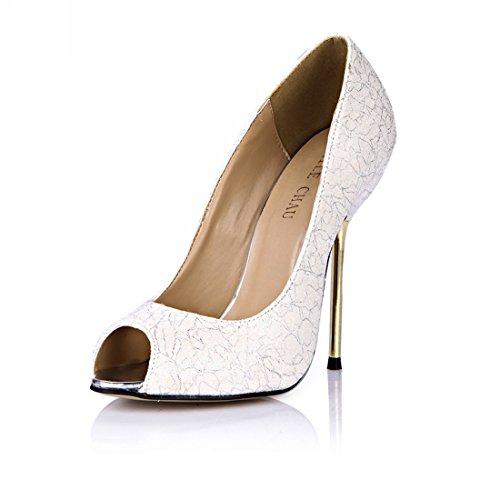 CHMILE CHAU Women Dress Heeled Heeled Heeled Pumps Sexy Stiletto High Heels Peep Toe Iron Heel Ladies Shoes B073NHDMHY Shoes cbd8b1