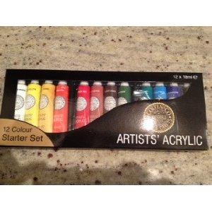 Artists 39 acrylic paints 12 colours colvin co ltd amazon - The colvin co ...