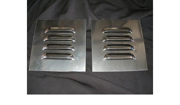 "RodLouvers Pair of Straight 5/"" 4 Mini Louvered Panels"