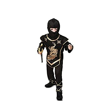 Fyasa 706078-t02 Ninja disfraz, dorado, mediano: Amazon.es ...