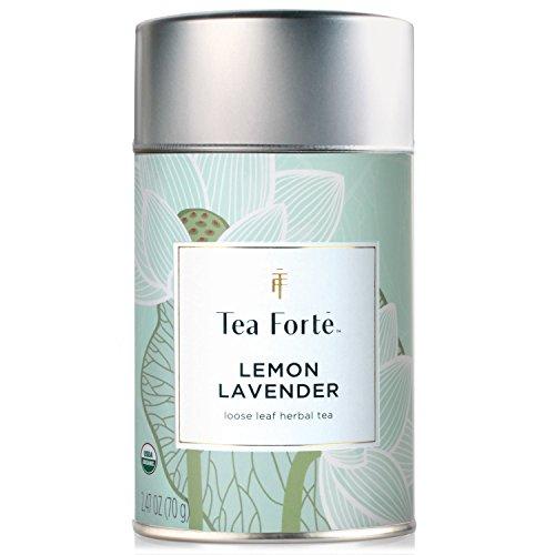 Linden Lemon Tea (Tea Forte Lotus LEMON LAVENDER Loose Leaf Organic Herbal Tea, 3.5 Ounce Tea Tin)