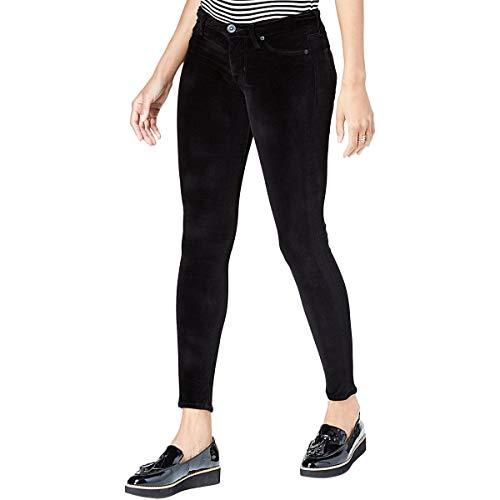 (Hudson Women's Barbara High-Waist Super Skinny Velvet Jeans in Dark Obsidian Dark Obsidian)