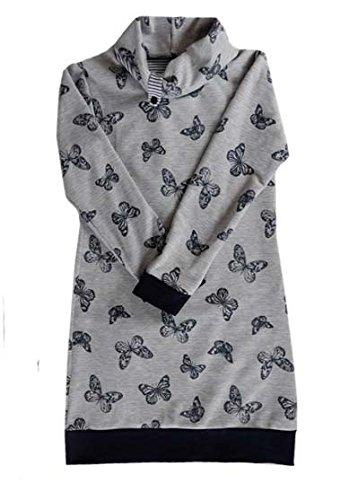 SCHNITTMUSTER Kleid / Pullover mit Rollkragen oder Schalkragen Thyra ...