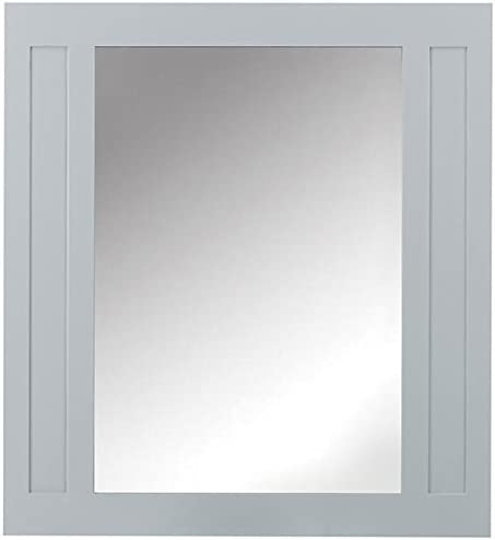 Amazon Com Home Decorators Collection Aberdeen Bath Mirror 36 Hx33 W Dove Grey Home Kitchen