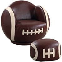 Kids Football Chair and Ottoman Set