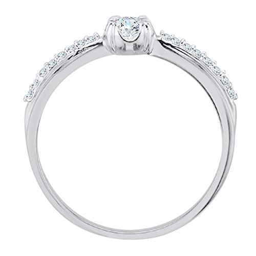 Diamond Engagement Ring in Sterling Silver (1/6 cttw) (JK-Color, SI2/I1-Clarity)