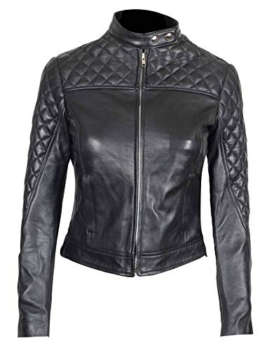 Biker Jacket Women - Leather Jacket for Women Black| S
